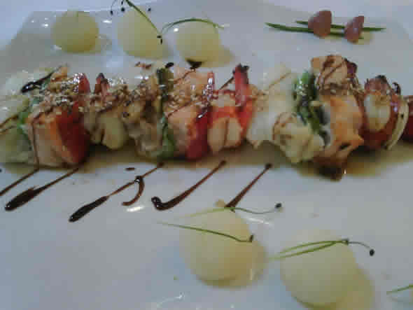 brocheta de rape